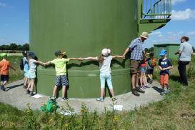 """""""Mit der Nase im Wind"""" - Ferienpass-Aktion an unserer Windkraftanlage"""